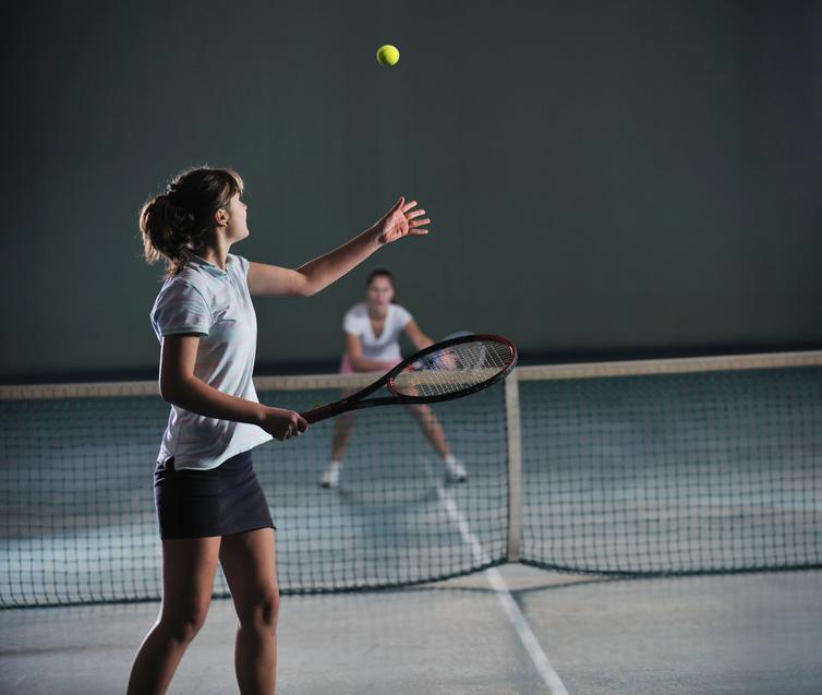 Indoor clay tennis courts