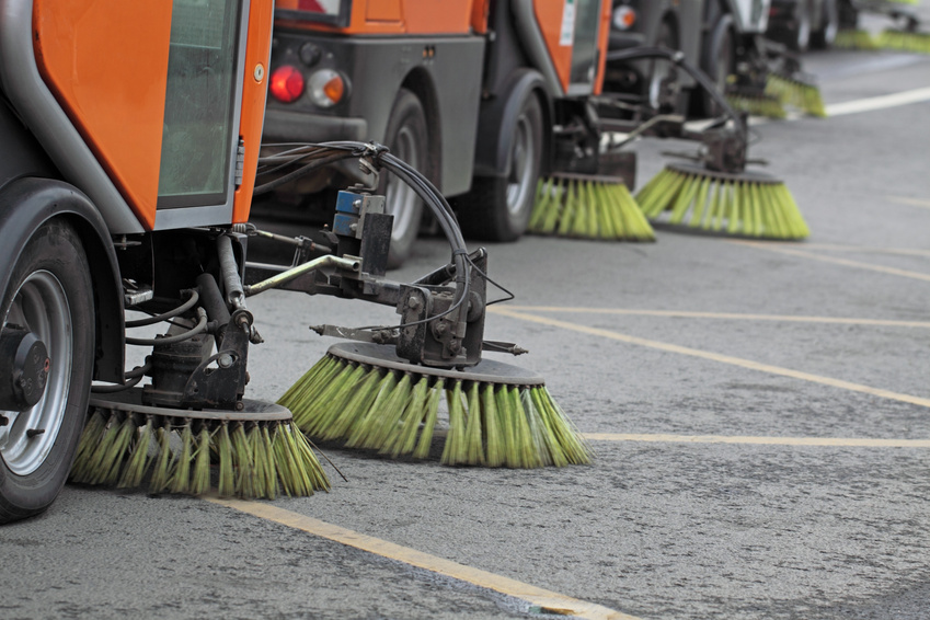 Parking lot cleaners
