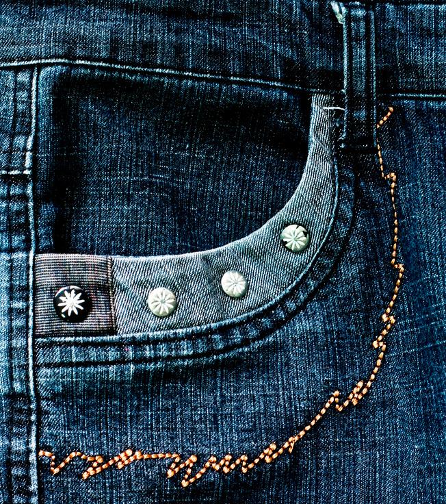 Glitzy jeans