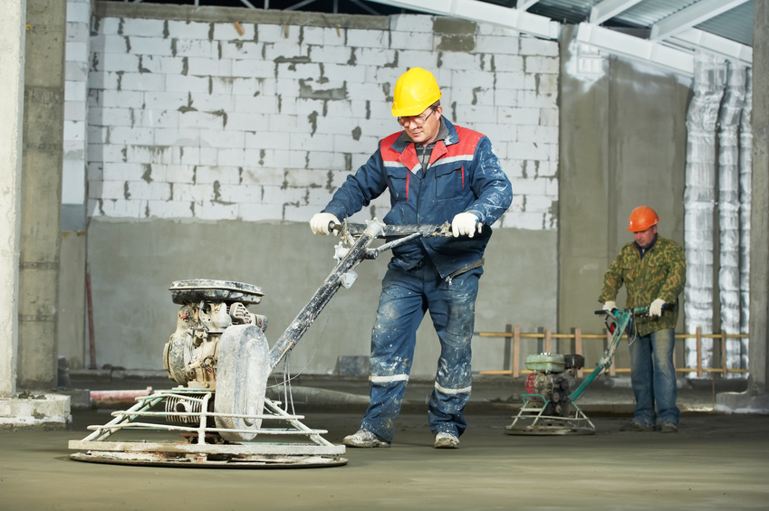 Diamond grinding concrete floors