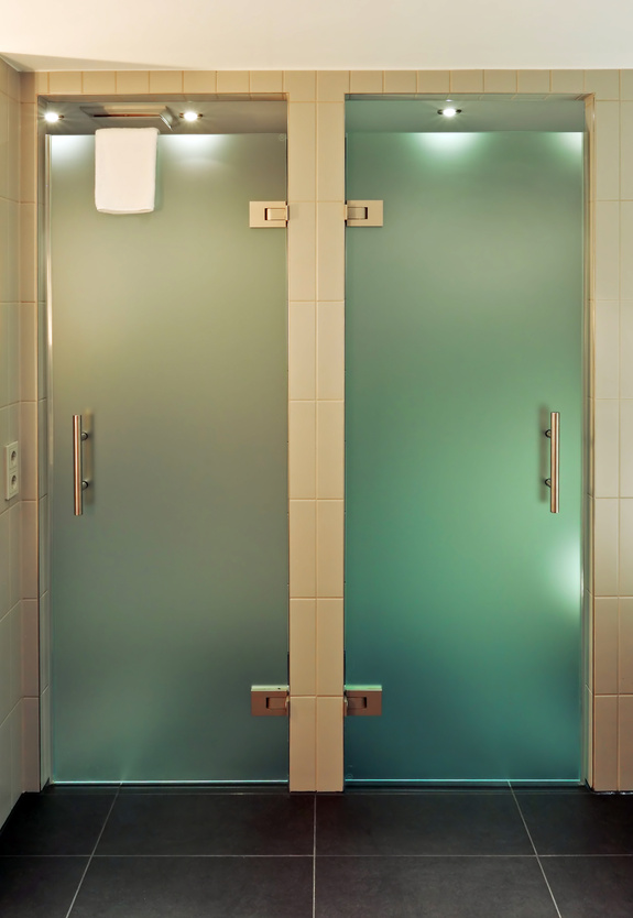 Michigan shower glass door