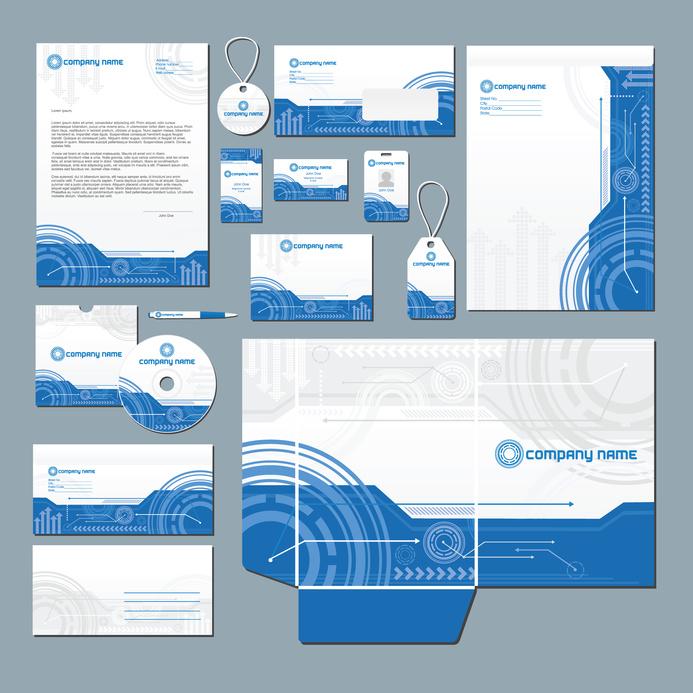 Printed presentation folders