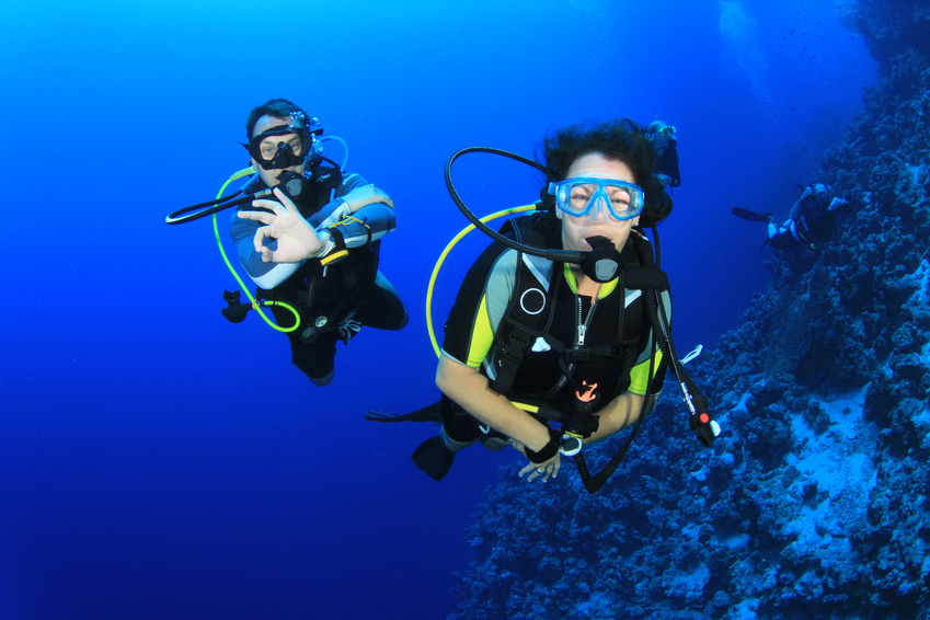 Scuba dive training