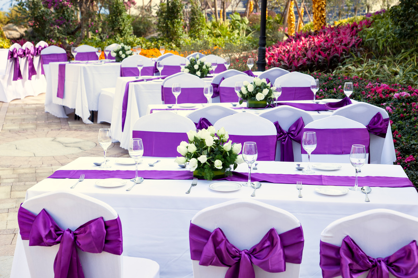 Renting linens for a wedding reception