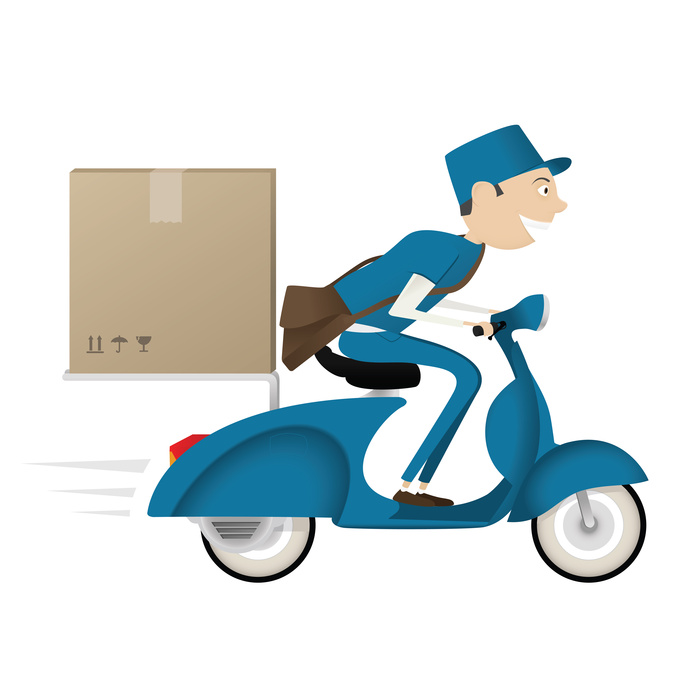 Package services delivery time