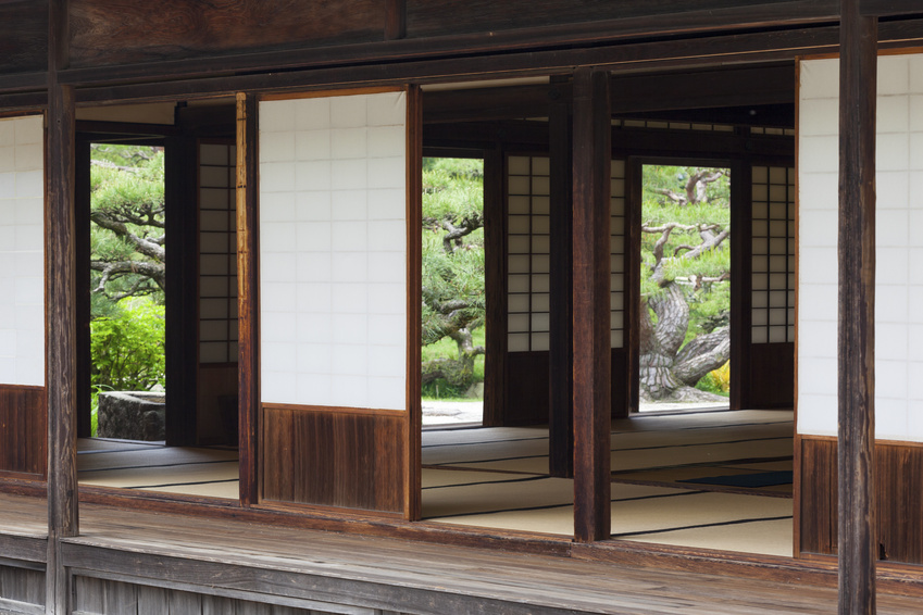 Shoji screens for sliding glass doors
