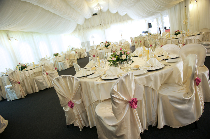 Renting linens for an event