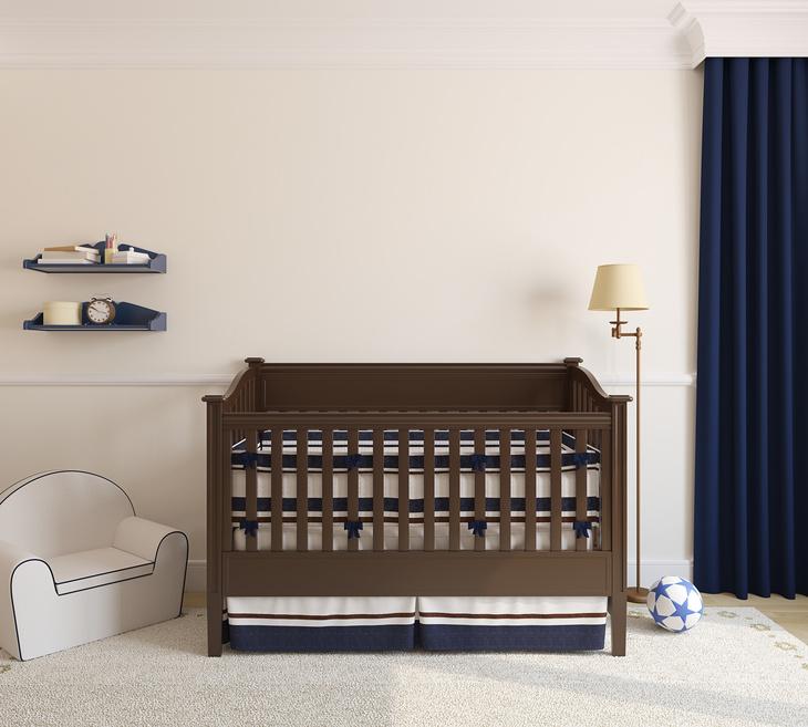 Standard baby crib