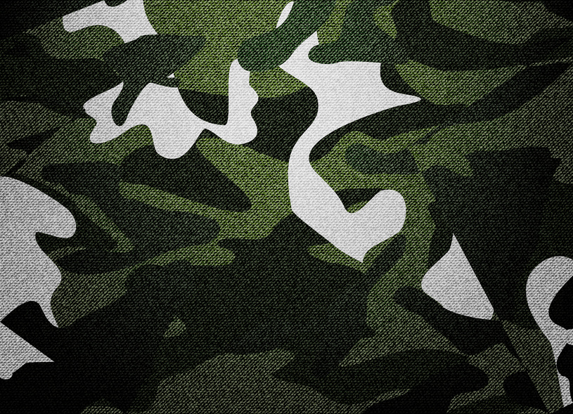 Camouflage crib bedding