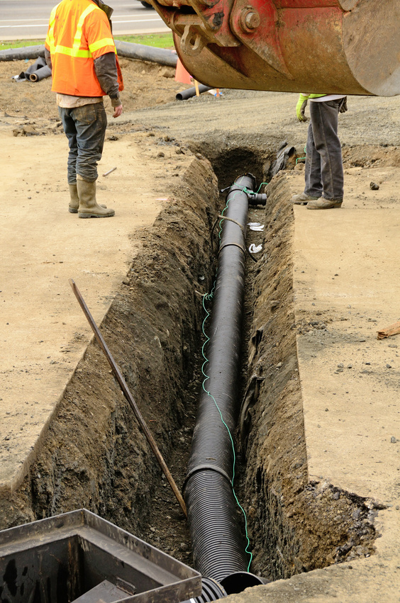 Trenchless plumbing repair for storm drains