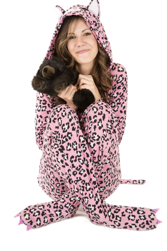 Footed adult pajamas