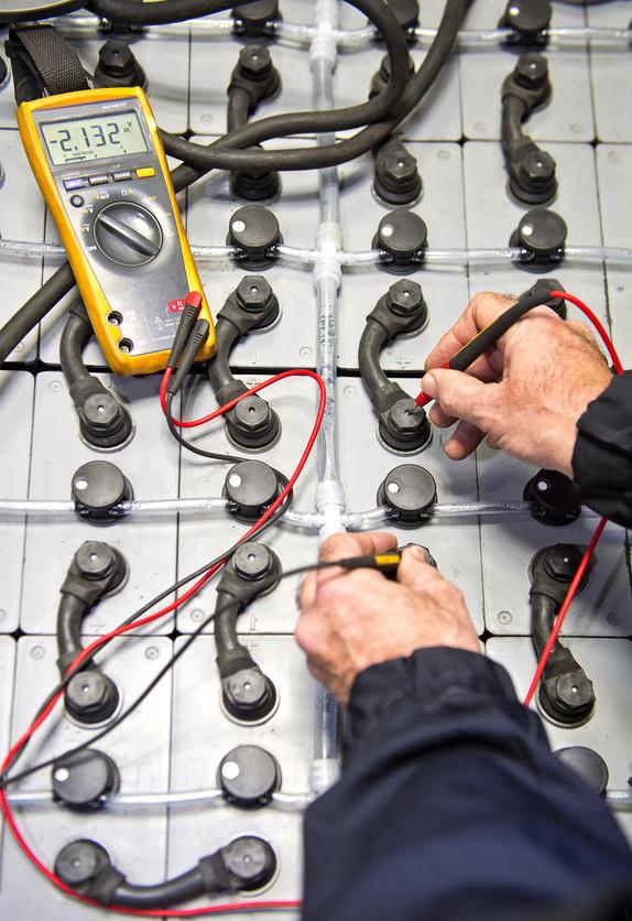 Stationary battery maintenance