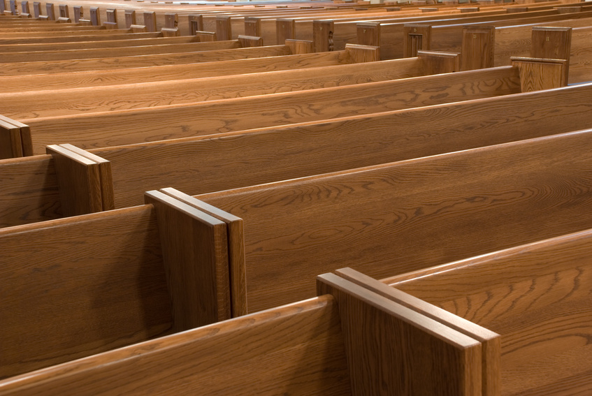 Church pews and chairs