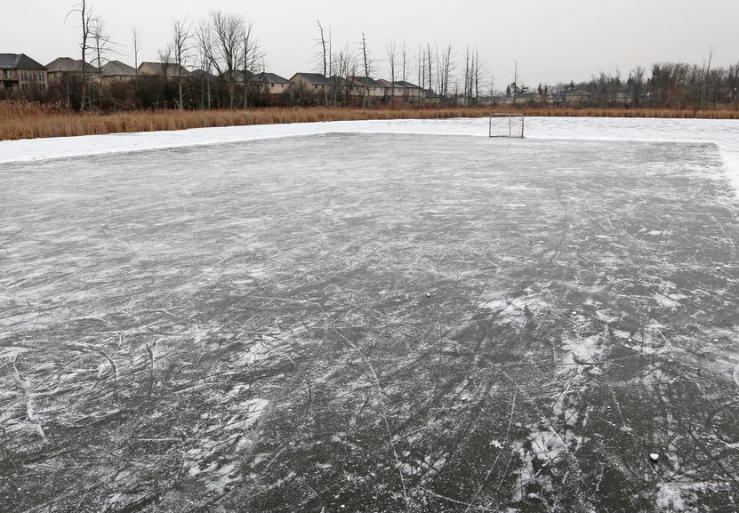 How to make a backyard ice rink