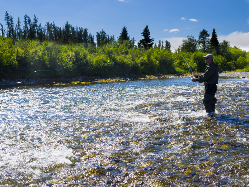 Wading boots for fly fishing