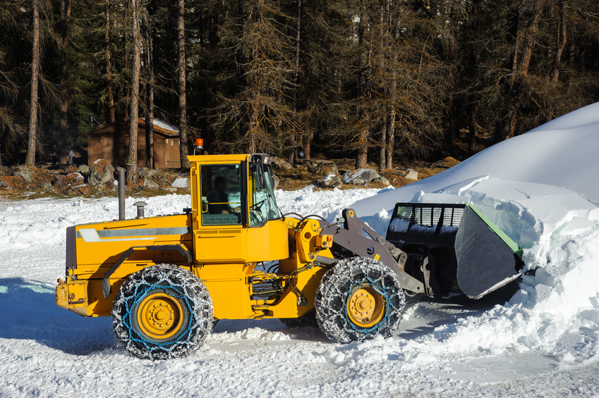 Snow pushers for loaders