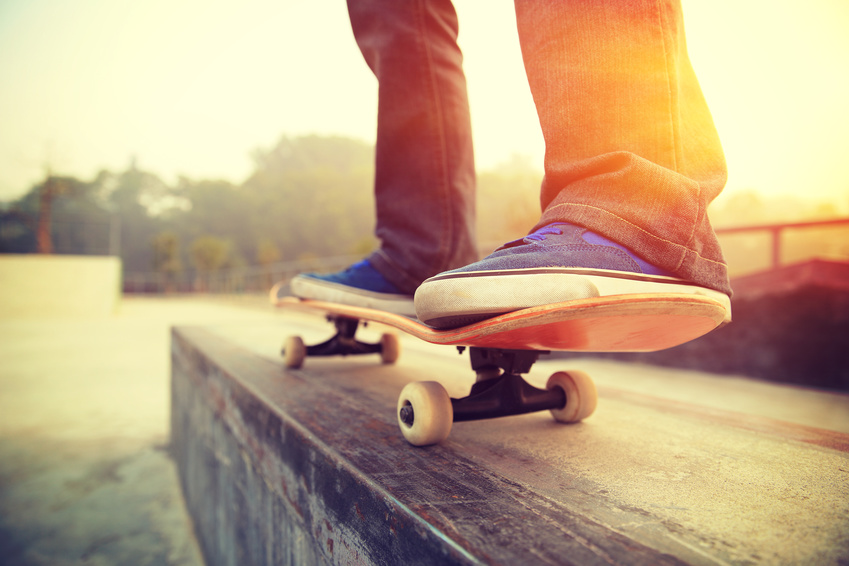Skateboard with electric motor