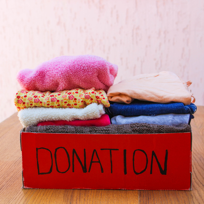 Donating clothing to charity