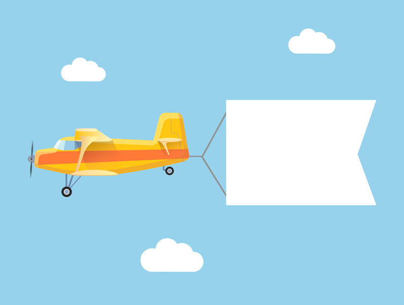 Plane advertising banner