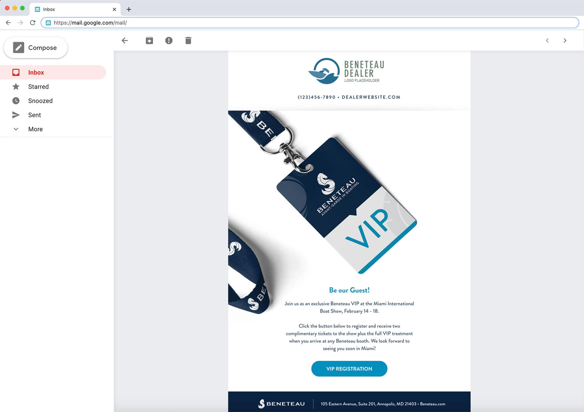 Miami VIP Email Template for Dealers
