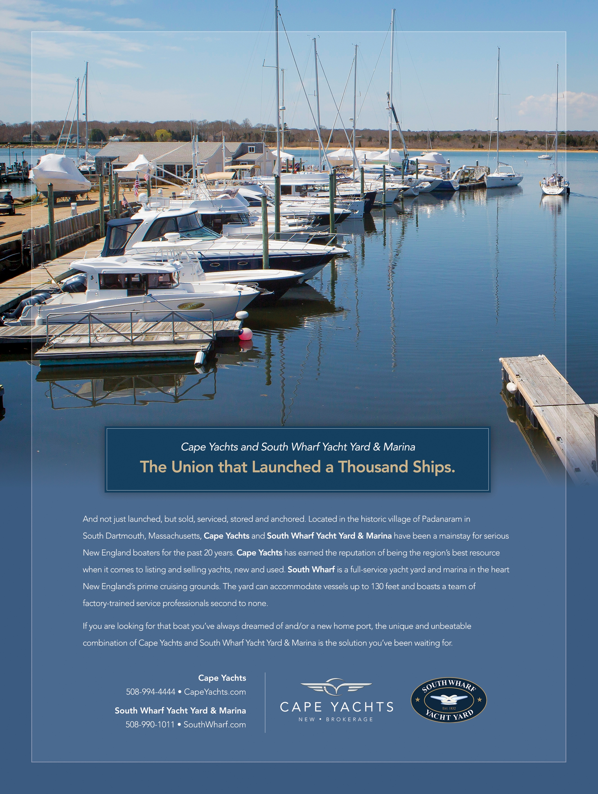 Cape Yachts Print Advertising