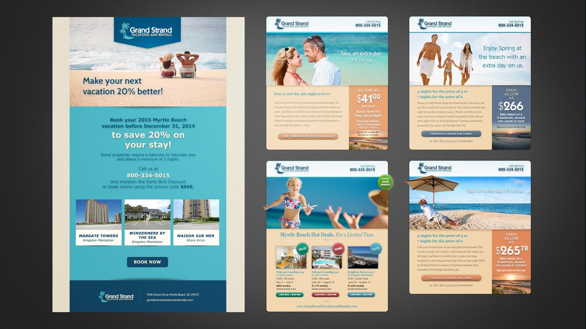 Grand Strand Vacations and Rentals Email