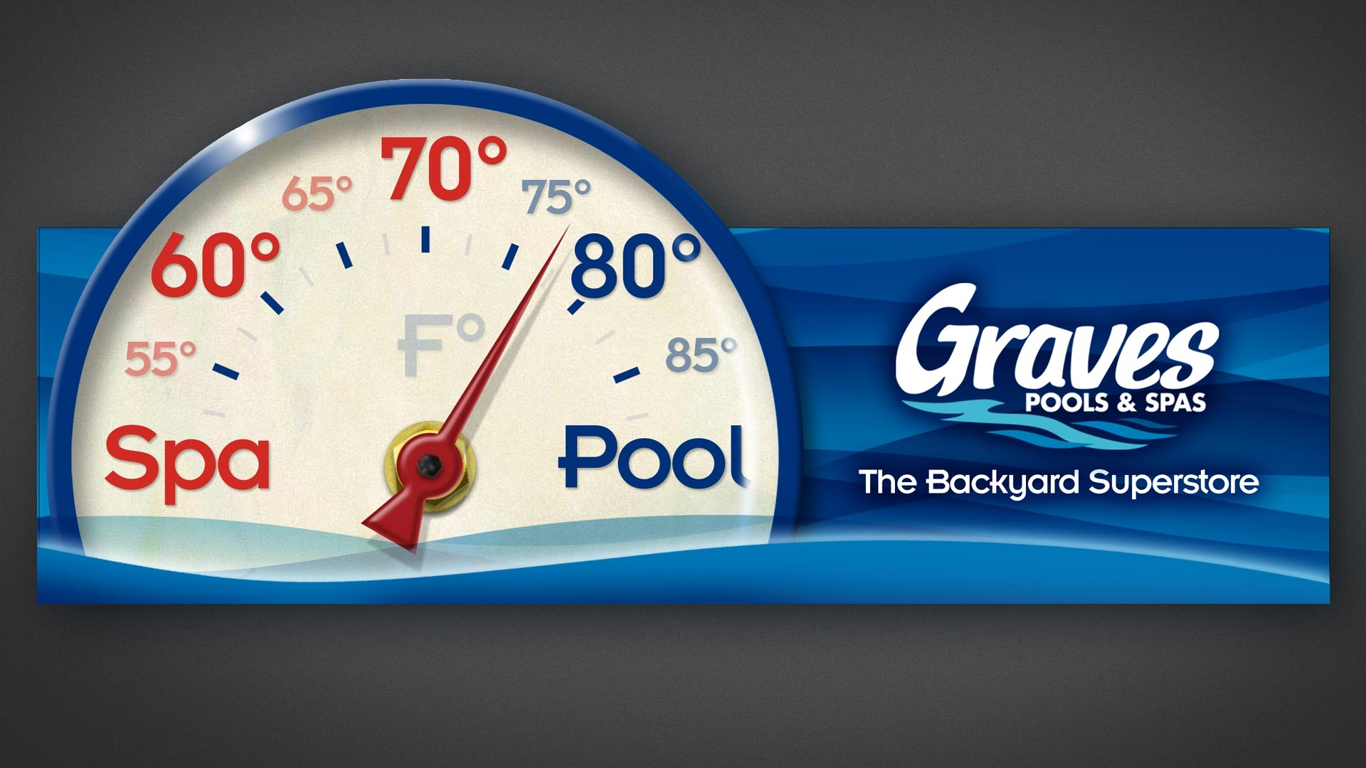 Graves Pools and Spas Outdoor Advertising