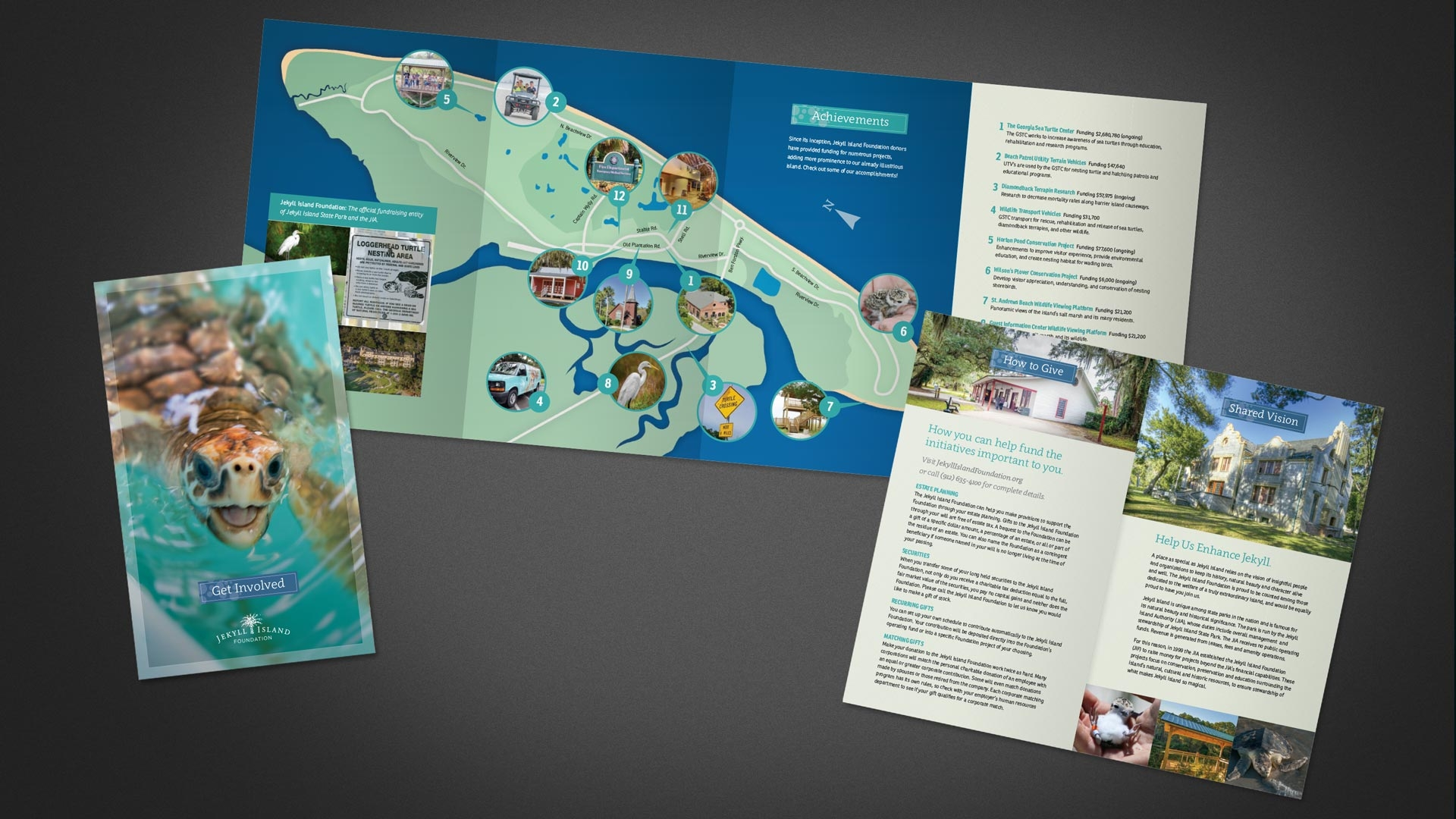 Jekyll Island Foundation Brand Collateral