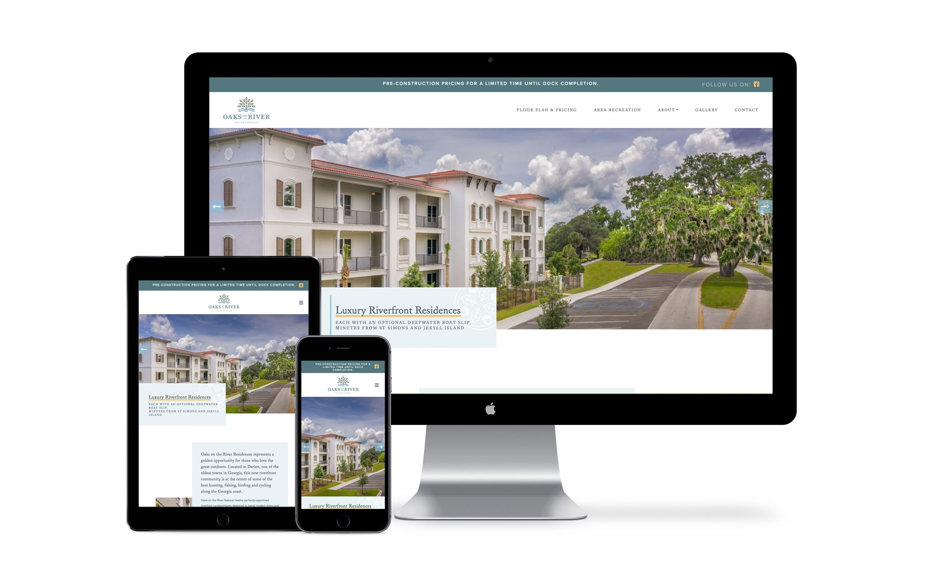 Oaks on the River Website