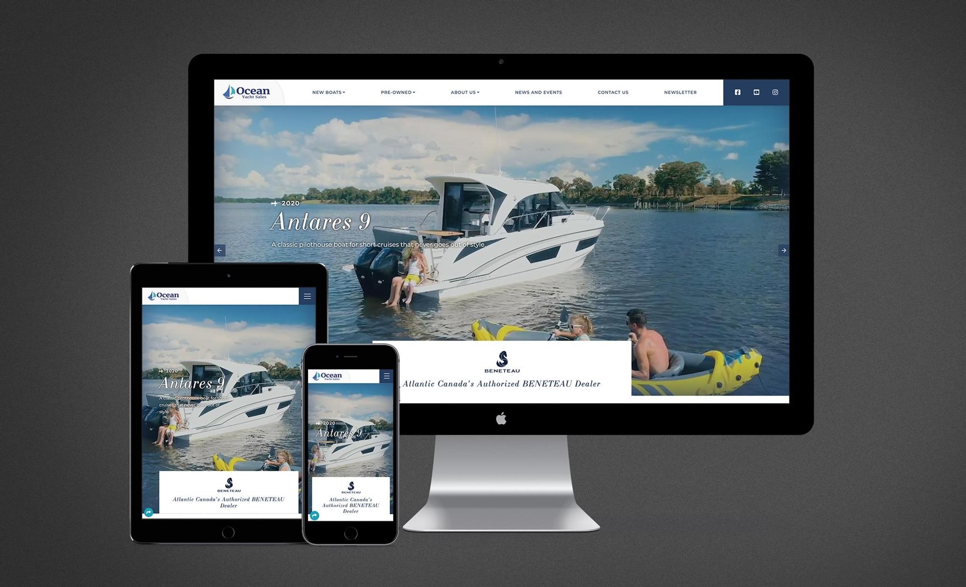 Ocean Yacht Sales Website