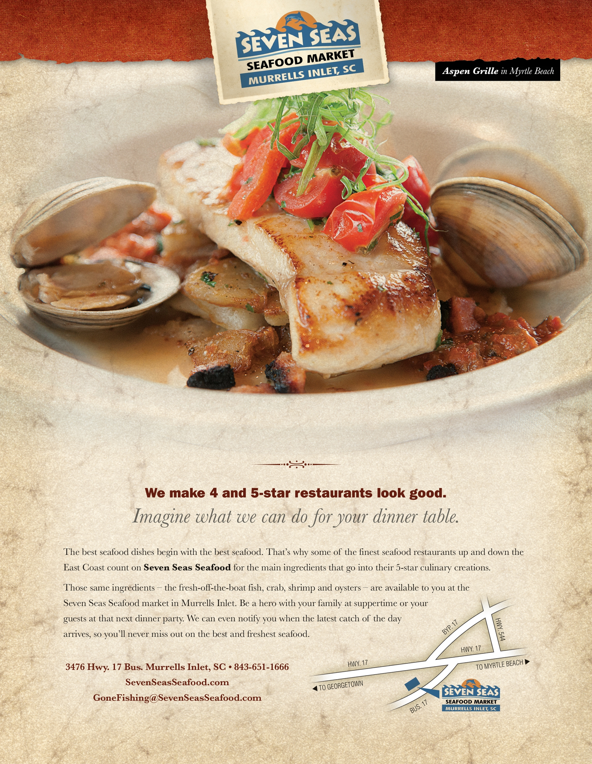 Seven Seas Seafood Ad