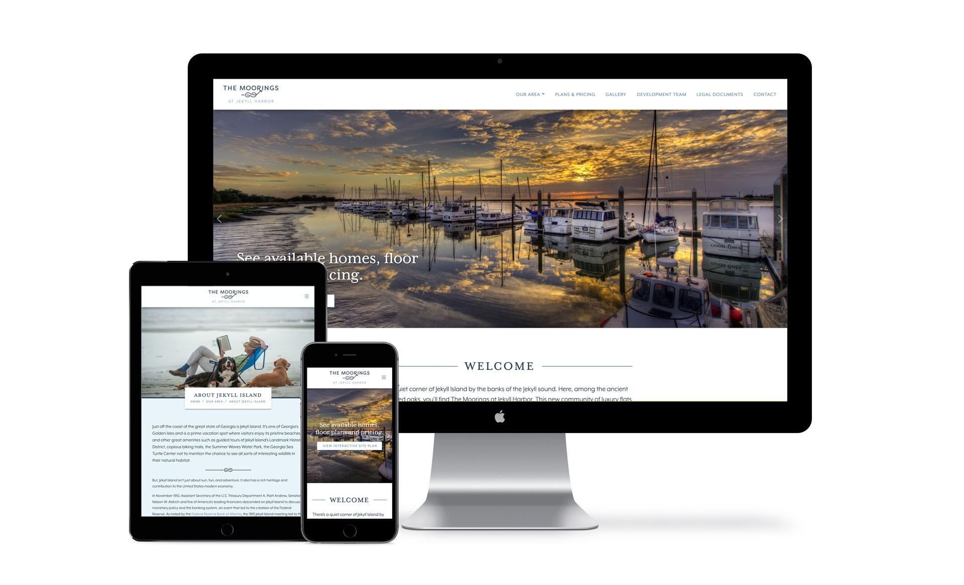 The Moorings at Jekyll Harbor Website