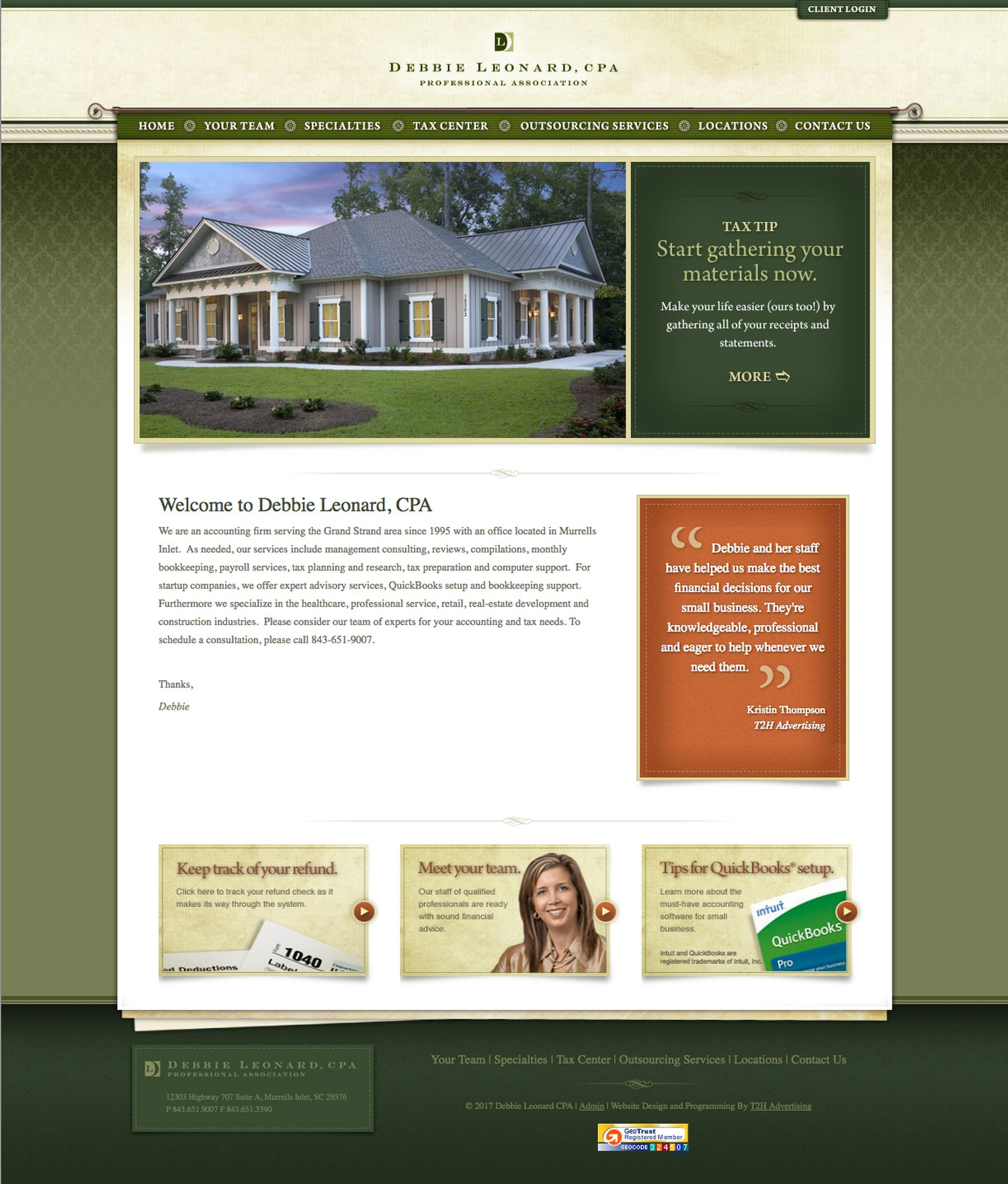 Debbie Leonard CPA Website