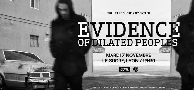 SURL Live : Evidence (of Dilated Peoples) au Sucre
