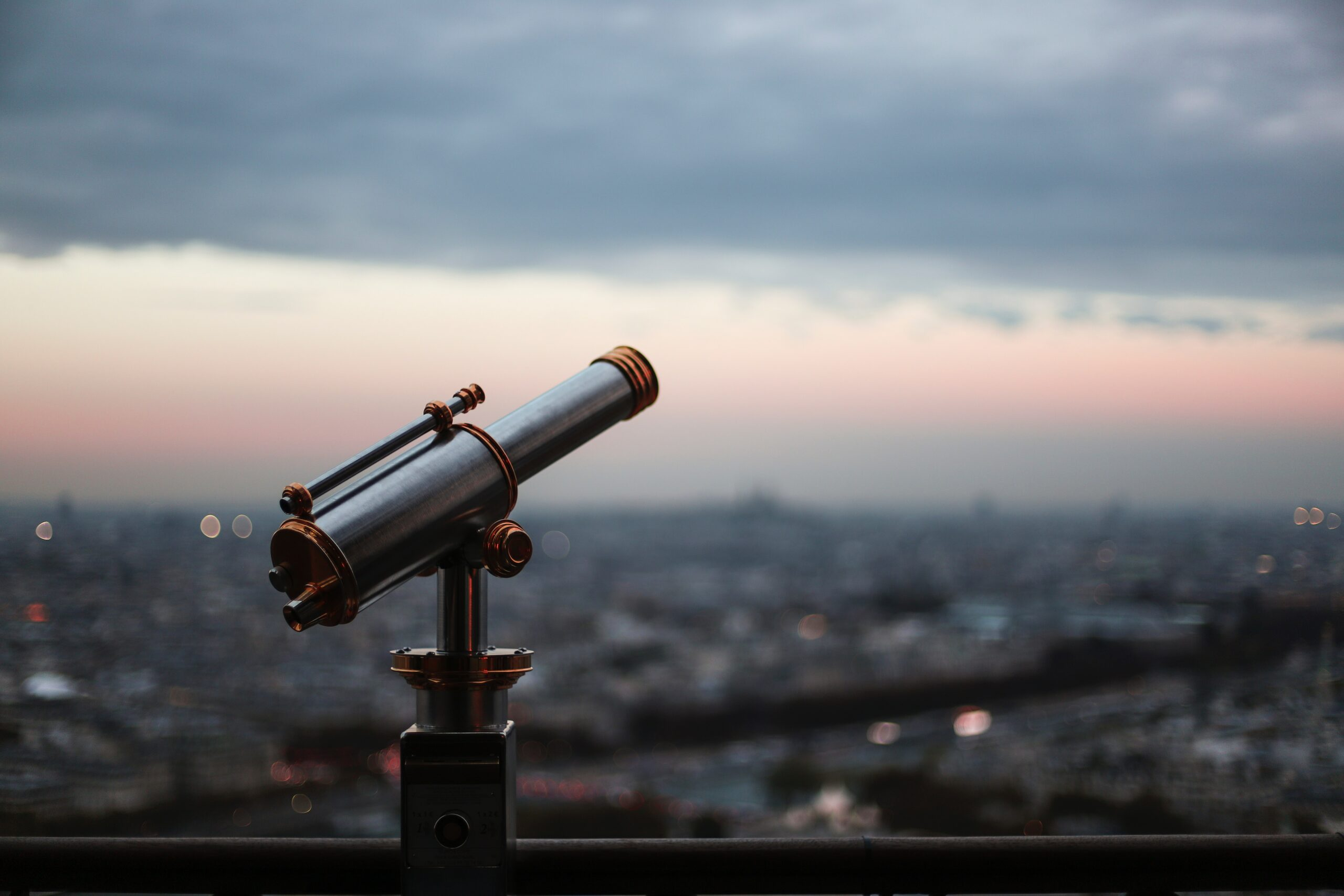 black telescope during day time