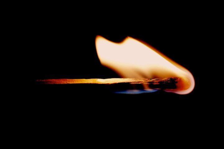 lit matchstick