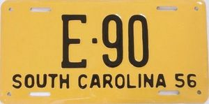Actual Restored License Plate