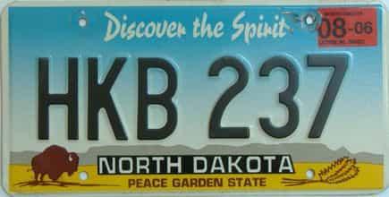 2006 North Dakota (Single) license plate for sale