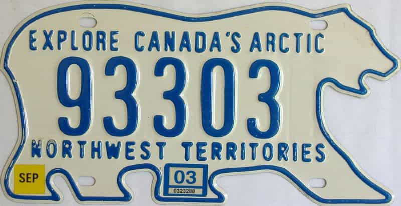 2003 NWT license plate for sale