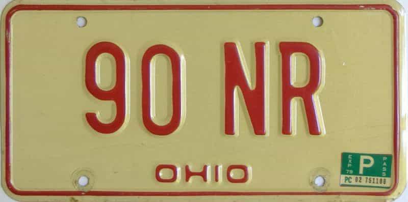 1979 Ohio  (Single) license plate for sale