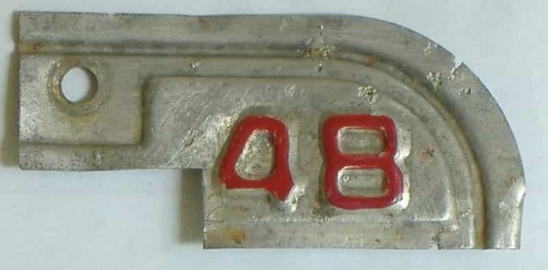 1948 California  (Single) license plate for sale