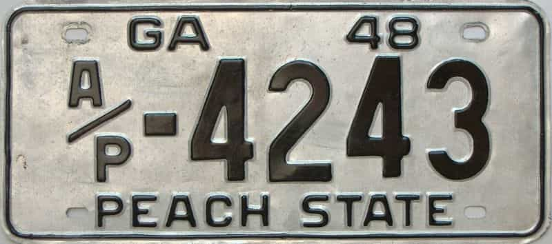 YOM 1948 Georgia  (Truck) license plate for sale