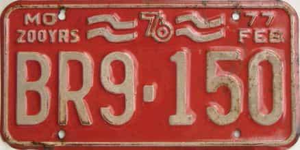 1976 Missouri (Single) license plate for sale