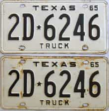 1965 Texas (Truck) license plate for sale