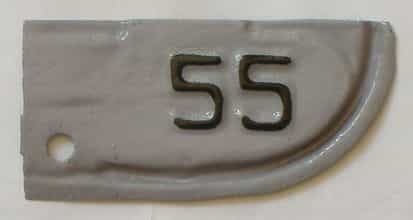 1955 California (Amatuer Repaint) license plate for sale
