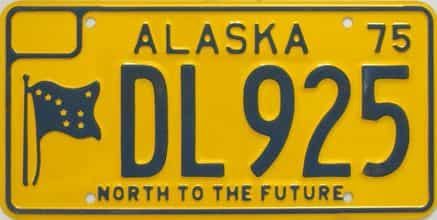 1975 Alaska (Dealer) license plate for sale