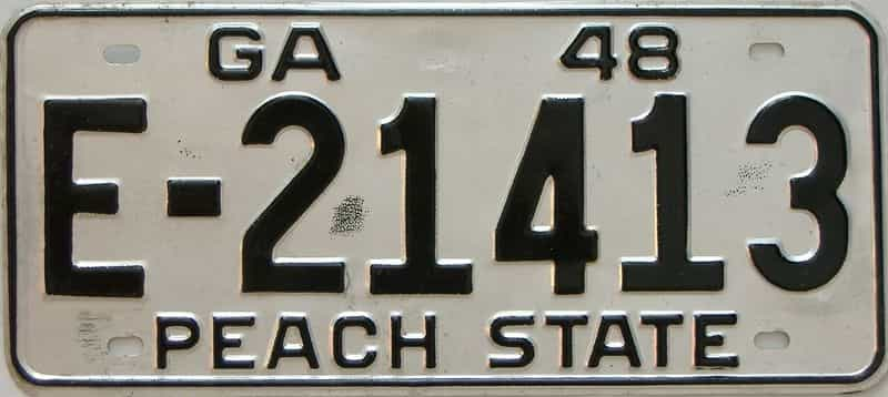 YOM 1948 Georgia license plate for sale