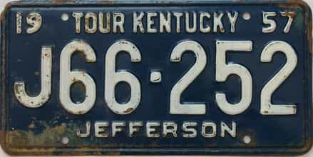 1957 Kentucky license plate for sale
