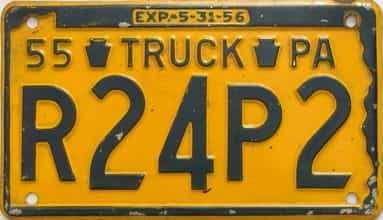 1955 Pennsylvania (Truck) license plate for sale