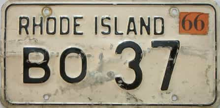 1966 Rhode Island (Single) license plate for sale